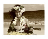 Hawaiian ukulele girl