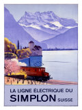 Simplon Electric Train Alps