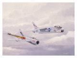 USN Navy VF24 F8 Crusader Jet