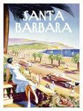 Santa Barbara Beach Resort Giclée