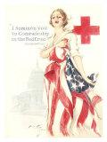 Red Cross and Lady Liberty  Comradeship