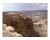 View from atop Masada - Dead Sea area  Israel