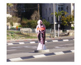 Albert Einstein promotes bike commuting in Jerusalem