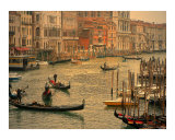 View of Grand Canal in Venice from the Rialto Bridge