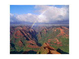 Waimea Canyon with Rainbow