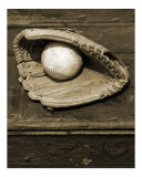 Vintage Ball & Glove - Portrait