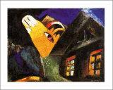 The Cowshed, c.1917 Reproduction d'art par Marc Chagall