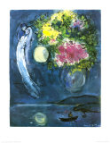 Lovers avec Bouquet, c.1949 Reproduction d'art par Marc Chagall