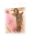 surfer girl in sepia 2