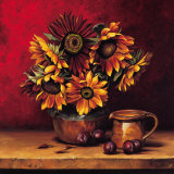 Sunflowers with Plums