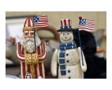 US Santa Claus and Snowman