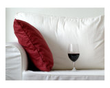 Afternoon Wine glass and sofa