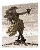 Hula Dancer in Tapa Skirt 2