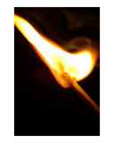 Heat and fire: Match head during ignition