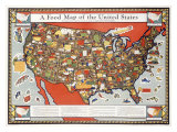 Food Map of the United States