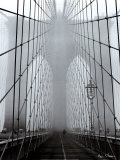 Foggy Day on Brooklyn Bridge