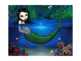 Mermaid in Her Grotto - Underwater Mermaid