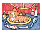 Tabby Cat In Bathroom Sink