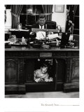 John Jr playing under John F Kennedy's Oval Office Desk  1963