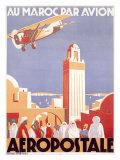 Marocco via Aeropostale Airline Giclée