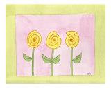 Yellow Swirly Flowers