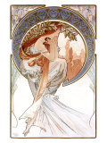 Poésie Giclée par Alphonse Mucha