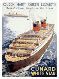 Cunard Line  Queen Elizabeth  Queen Mary