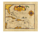 1655 Caribbean Pirate Map