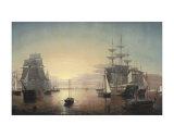 Boston Harbor  c1855