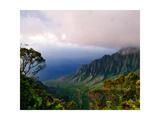 View of The Kalalau Valley  Kauai  Hawaii