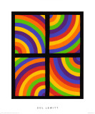 Color Arcs in Four Directions, c.1999 Giclée premium par Sol Lewitt