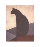 Black Cat in Profile  c1924
