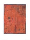 Fruchte Auf Rot, c.1930 Reproduction d'art par Paul Klee
