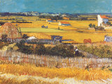 Harvest at Arles  c1888