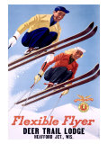 Deer Lodge Flexible Flyer Ski  c1954