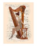 Ballet Dancer and Harp
