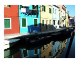 Hanging Laundry Alongside a Burano Canal