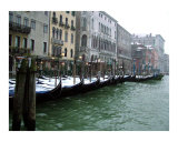 Snow Covered Gondolas in the Grand Canal