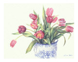 Red Tulips and Blue Delft