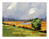 Early Fall on the Marsh Plein air impressionist oil paintin