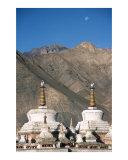 Monk  mountains  moon