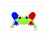 Frederic the Frog with printed passepartout