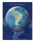 South America View of Earth Poster