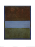 No 61 (Brown  Blue  Brown on Blue)  c1953