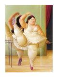 Ballerine à la Rampe Reproduction d'art par Fernando Botero