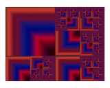 Red Blue Square