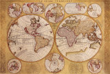 Antique Map  Globe Terrestre  1690
