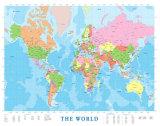 Carte d'Amérique du Nord Reproduction d'art