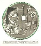 Plates with Text at Pace Columbus Reproduction d'art par Pablo Picasso