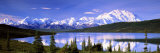 Snow Covered Mountains  Mountain Range  Wonder Lake  Denali National Park  Alaska  USA